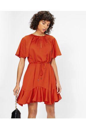 Ted Baker Fluted Hem Mini Dress