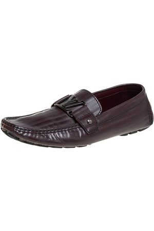 LOUIS VUITTON Leather Monte Carlo Loafers Size 41.5
