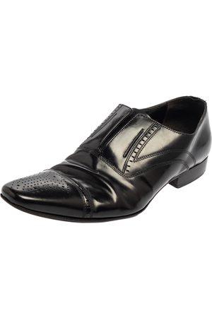 Dolce & Gabbana Leather Slip On Oxfords Size 41