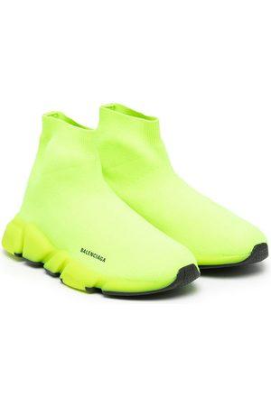 Balenciaga Kids Flat Shoes - Speed sock slip-on sneakers - 7771 FLUO /