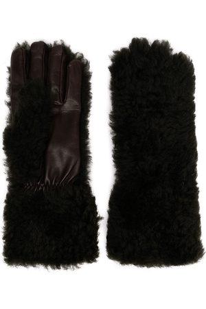 Bottega Veneta Men Gloves - Textured panelled gloves - Grey