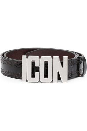 Dsquared2 Logo-plaque buckle belt