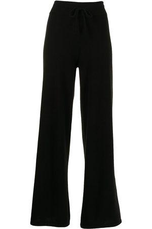 Lisa Yang Wide-leg cashmere track trousers