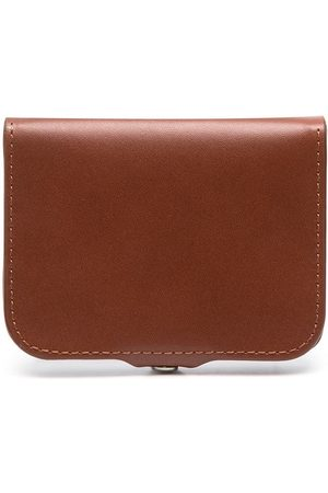 A.P.C. Snap-fastening leather wallet