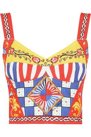Dolce & Gabbana Women Bras - Carretto-print bustier top