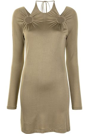 DION LEE Horse-bit mini dress