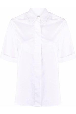ELEVENTY Women Short sleeves - Concealed-placket short sleeve shirt