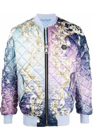 Philipp Plein Men Bomber Jackets - New Baroque quilted bomber jacket