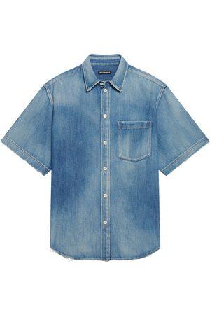 Balenciaga Men Short sleeves - Short-sleeve denim shirt