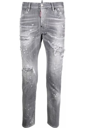 Dsquared2 Distressed-effect slim-fit jeans - Grey