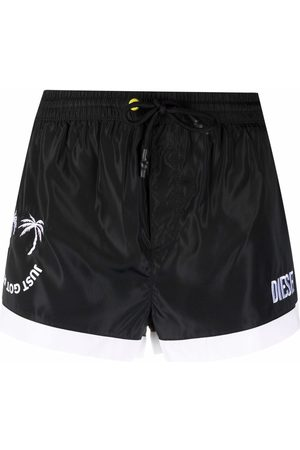 Diesel Just Got Real embroidered swim shorts