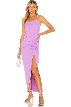 Susana Monaco Women Maxi Dresses - Ruched Slit Maxi Dress in Lavender.