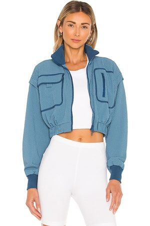 Free People X FP Movement Forty Love Jacket in Blue.