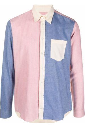 MACKINTOSH Button down contrast panel shirt