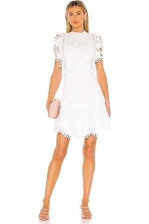Saylor Sigrid Mini Dress in Ivory.