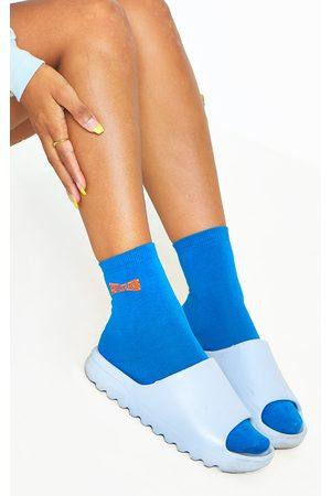 PRETTYLITTLETHING Navy Ankle Socks