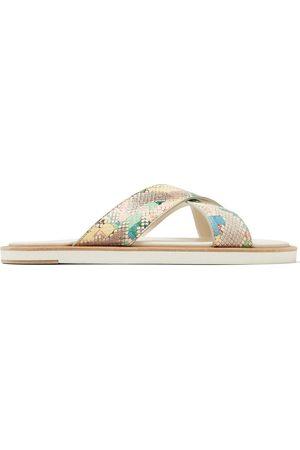 Jimmy Choo Palmo snakeskin-effect sandals - Multicolour