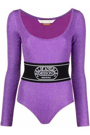 Palm Angels X Missoni logo-waistband bodysuit