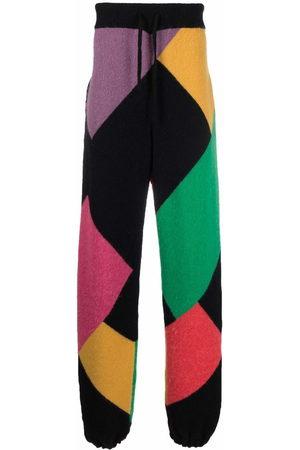 Palm Angels Men Sweatpants - X Missoni Sport colour block knitted track pants