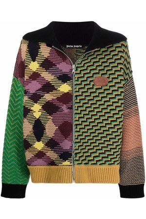 Palm Angels Men Cardigans - X Missoni jacquard patchwork knitted cardigan