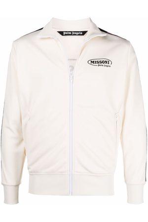 Palm Angels X Missoni Sport logo print contrast trim track jacket
