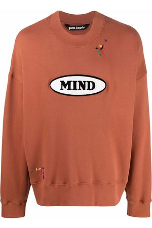 Palm Angels Men Sweatshirts - X Missoni embroidered slogan patch sweatshirt