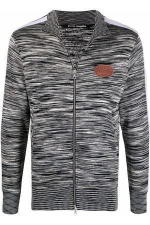 Palm Angels Hoodies - X Missoni melange knit zip-front track jacket