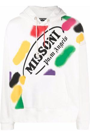 Palm Angels X Missoni Sport logo print hoodie