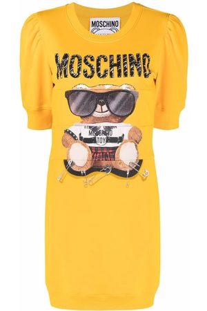 Moschino Teddy Bear puff-sleeve dress