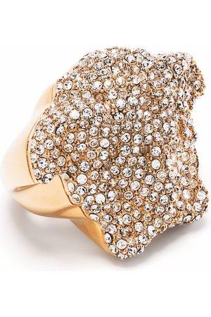 VERSACE Crystal-embellished Medusa ring