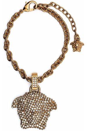 VERSACE Crystal-embellished Medusa charm bracelet