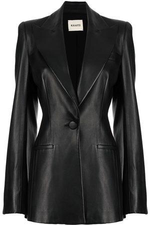 Khaite Blondie leather blazer