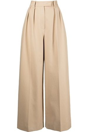 Khaite Teyana wide-leg trousers - Neutrals