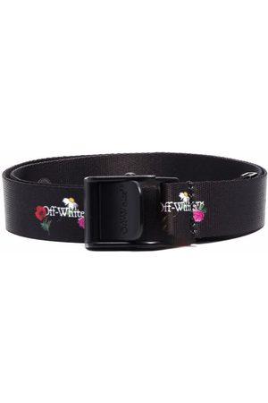 OFF-WHITE Floral logo-print belt