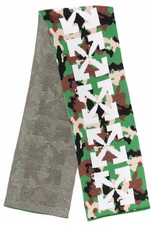 Off-White Kids Boys Scarves - Arrows-motif camouflage-pattern scarf
