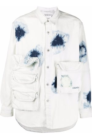Marcelo Burlon County of Milan Multi-pocket denim shirt