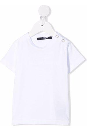 Balmain Kids Short Sleeve - Short-sleeved cotton T-shirt