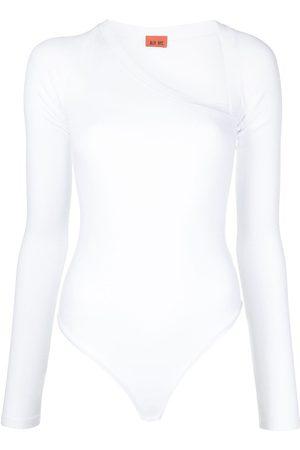 Alix NYC Stratton asymmetric neck jersey bodysuit