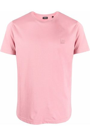 Diesel Men Short Sleeve - Logo-patch short-sleeved T-shirt