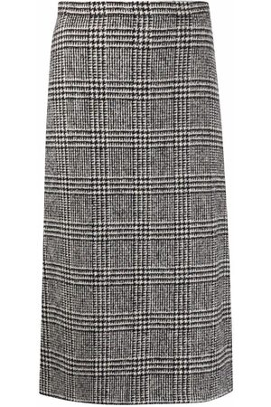 ERMANNO SCERVINO Check-print pencil skirt - Grey