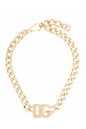 Dolce & Gabbana Logo-pendant chain-link key ring