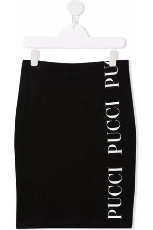 Emilio Pucci Logo-print cotton skirt