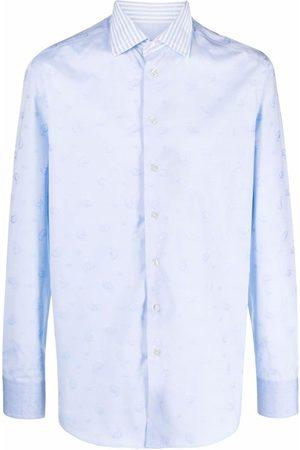 ETRO Contrast-collar cotton shirt