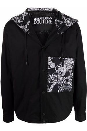 VERSACE Baroque-print zip-up jacket