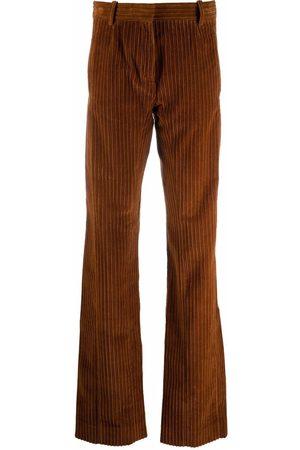 Golden Goose Women Wide Leg Pants - High-waist flared corduroy trousers