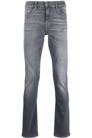 7 for all Mankind Mid-rise straight-leg jeans - Grey
