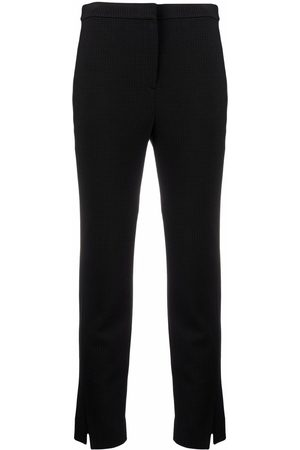 Theory Cropped slit-cuff trousers