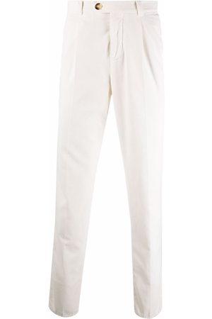 Brunello Cucinelli Pleat-detail cotton trousers - Neutrals