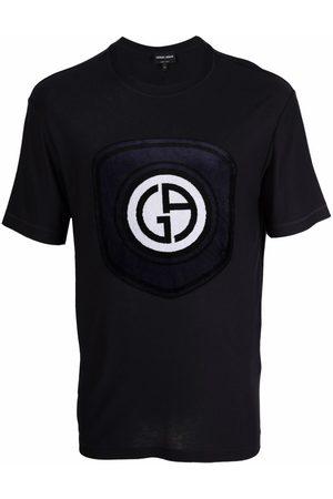 Armani Textured-logo short-sleeve T-shirt