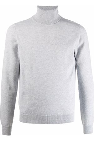 Malo Roll neck cashmere jumper - Grey